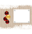 christmas wooden frame vector image