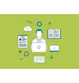 Concept of consulting services project management vector image