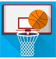 Flat of play basketball vector image