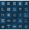 Home heating icons set vector image