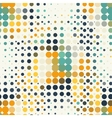 Seamless geometric pattern of halftone dots in vector image