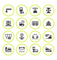 set round icons of parking vector image
