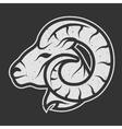 Sheep symbol logo for dark background vector image