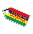 Made in Mauritius vector image vector image