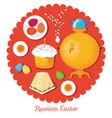 set russian national easter food food vector image
