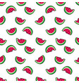 tropic seamless pattern in cartoon trendy style vector image