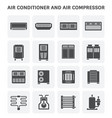 air conditioner icon vector image