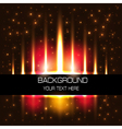 starry background with flaming brilliant vector image vector image
