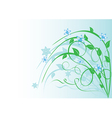 plant with blue flowers on light blue vector image vector image