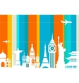 Travel background - vector image vector image