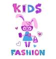 Funny fashion kids vector image