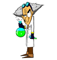 Evil mad scientist vector image