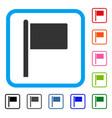 flag pointer framed icon vector image