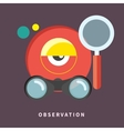 Icon in flat design for observation and monitoring vector image