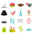 spa treatments set flat icons vector image