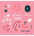 St Valentines Day lettering and cute design vector image