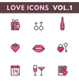 Valentines Day and wedding icons vector image