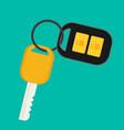 car rent concept key flat icon vector image