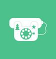 icon landline phone vector image
