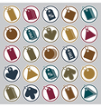 Tag icons set retail theme simplistic symbols vector image