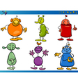 Cartoon Fantasy Characters Set vector image vector image