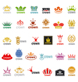 biggest collection of logos crown vector image