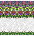 ornamental floral folkloric background for vector image vector image