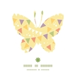 party decorations bunting butterfly silhouette vector image