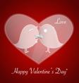 Happy valentines day Bird love card Invitation vector image