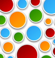 Paper colorful bubbles vector image