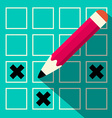Pencil Check Option vector image