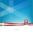 basque ribbon flag vector image vector image