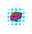 Freight carriage icon comics style vector image