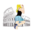 A big kiss from Rome vector image