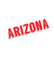 arizona rubber stamp vector image