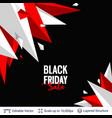 black friday sale background design vector image