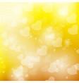 bokeh yellow background vector image
