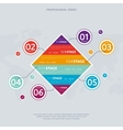 Business infographics concept with six stage vector image