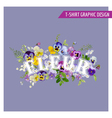 Floral Shabby Chic Graphic Design vector image