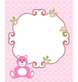 invitation card pink vector image