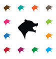 isolated wild icon grizzly element can be vector image