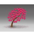 love tree having heart shapes vector image
