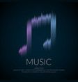 Modern logo or emblem music note in the form of vector image