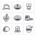 Set of Emergency Services Icons vector image