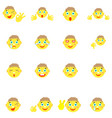 smilies boys with different emotions gesture vector image
