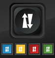 Two way traffic icon symbol Set of five colorful vector image
