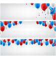 white banners set with balloons vector image