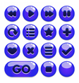 a set of buttons for gaming interfaces vector image