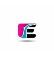 Corporate Logo E Letter company design temp vector image