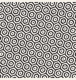 seamless black and white pattern with hexagon vector image